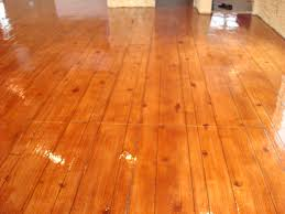 Laminate Flooring On Concrete Slab Home Decor Stamped Concrete Floor Glossy Light Brown Pattern