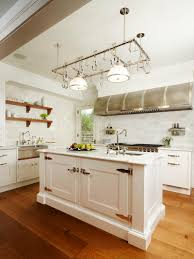 white kitchen with blue island home styles white farmhouse inside