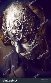 faceless mask halloween portrait mysterious man iron mask steampunk stock photo 272825906