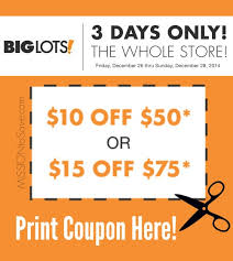 save more with 3 day big lots coupon 12 26 12 28 mission to save