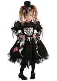 girls skeleton bones costume gothic costumes scary costumes