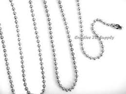 ball chain necklace images Lot 50 ball chain necklace 24 quot nickel plated 2 4mm bead ebay jpg
