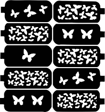 75 best nail art stencil sticker decal template images on