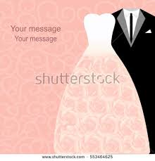 Bride To Groom Wedding Card Wedding Card Dresses Bride Groom Wedding Stock Vector 553464625