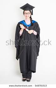 graduation gown happy student graduation gown cap stock photo 548791513