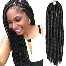 extension braids vrhot 6packs faux locs crochet hair braids synthetic