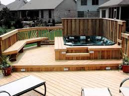 How To Build Wood Steps On A Deck Today U0027s Homeowner by Best 25 Tub Deck Ideas On Pinterest Tub Patio Garden