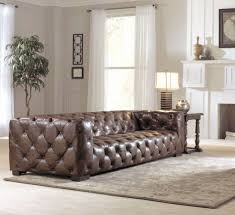 Button Tufted Sofas by Mansfield Ethan Allen Leather Tufted Sofa Omni Camel Leather Deep