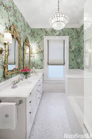 bathroom with wallpaper ideas modern black and white bathroom wallpaper with statement designdeas
