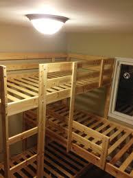triple bunk hack mydal bunkbeds ikea hackers ikea hackers