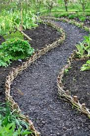 Garden Path Edging Ideas Willow Weave Path At Rhs Harlow Carr Pinner Will Be A