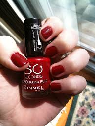 rimmel london 60 seconds in 320 ruby red nails nails