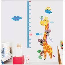 giraffe home decor wall art stickers kids u0027 height measurement