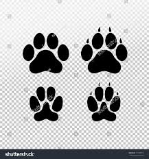 paw print template cat set paw print flat stock vector 717298714