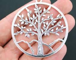oak tree charm etsy
