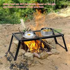 camp fire grill grate cooking outdoor bbq steel pit camping open