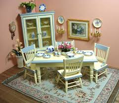 Dollhouse Dining Room Furniture Amanda S Decorated Country Dining Room Dollhouse Miniature