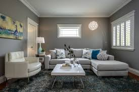 incredible home living room interior painted in light grey to