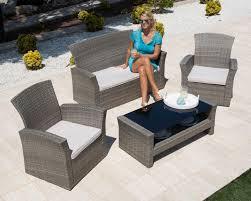 2 er sessel 7 tlg loungeset salerno 2 sessel 2er sofa tisch 105x50 cm