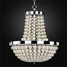 Glow Lighting Chandeliers Empire Style Chandelier Pearl Like Moscato 642 Glow