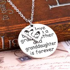 grandmother granddaughter necklace the between a grandmother and granddaughter is forever