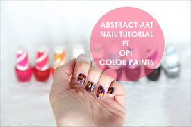 nail tutorial abstract art ft opi color paints youtube
