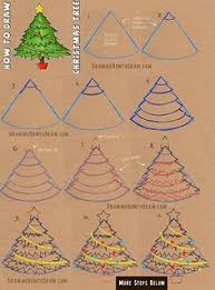 how to draw a christmas tree 4 cartoon tutorials christmas tree