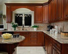Cherry Cabinet Colors Color Of Cabinets Traditional Medium Wood Golden Kitchen Cabinets