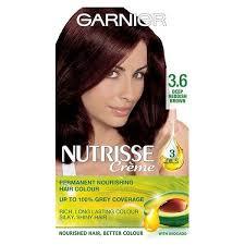 reddish brown hair color garnier nutrisse 3 6 deep reddish brown permanent hair dye superdrug