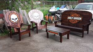 harley davidson chairs and benches garage ideas pinterest harley davidson chairs and benches