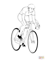 riding a bicycle coloring page free printable coloring pages
