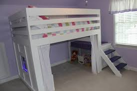 white full size loft bed with desk and stair u2013 home improvement