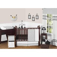 Jojo Design Bedding Sweet Jojo Designs Zig Zag Black And Gray 11 Piece Baby Crib