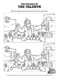 the parable of the talents kids spot the difference can your kids