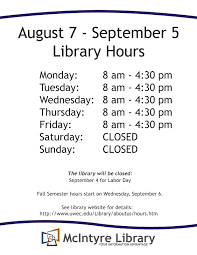 mcintyre library news summer 2017 library hours may 22