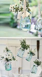 Diy Garden Wedding Ideas Hanging Vintage Floral Jars 15 Diy Outdoor Wedding Ideas