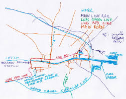 Ireland Rail Map Visit Dublin Walk Canals Drink Beer Irish Waterways History