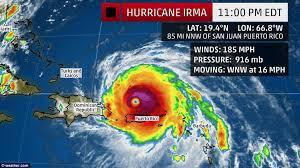 irma hits puerto rico after damaging barbuda and st martin
