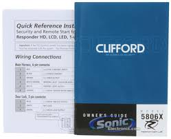 clifford 5806x 2 way paging car alarm vehicle security and remote