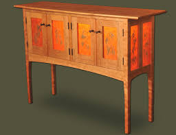 our custom made cherry thread leaf sideboard makes a unique and