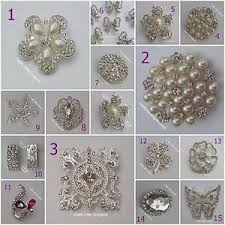 wedding chair sashes rhinestone diamante gems pearl pin broach brooch wedding chair