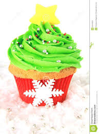 christmas tree cupcake stock images image 35418224