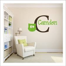 Monogram Wall Decals For Nursery Name Monogram Decal Custom Wall Decal Nursery Wall Boy Monogram