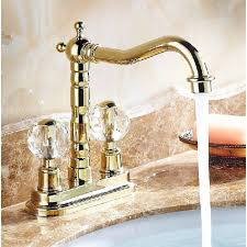 gold kitchen faucet dual handle neck deck mount bathroom kitchen faucet in gold