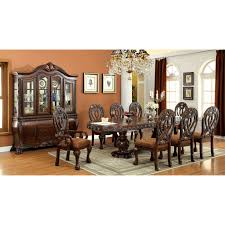 furniture of america grandberry traditional 7 piece dining table