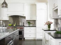 kitchens with stainless steel backsplash quilted backsplash transitional kitchen emily followill