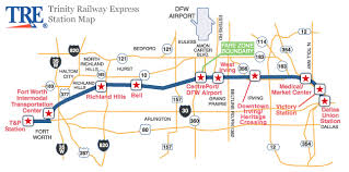 fort worth map stations railway express tre