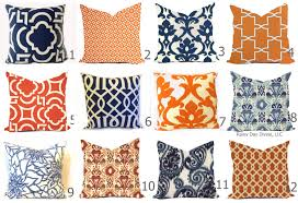 outdoor pillow covers or indoor custom navy royal blue indigo