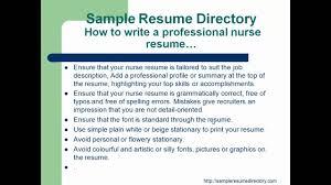 How To Write A Nursing Resume How To Write A Professional Nurse Resume Mp4 Youtube