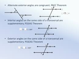 Same Side Interior Definition Parallel Line Properties